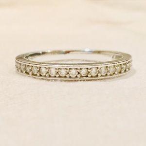 Swarovski Rhodium-plated Clear Crystal Ring